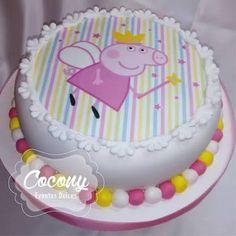 Resultado de imagen para peppa pig tarjetas de cumpleaños para colorear Pig Birthday Cakes, 3rd Birthday Parties, Spring Desserts, Pig Party, Cake Cookies, Icing, Birthdays, Goodies, Pig Cakes