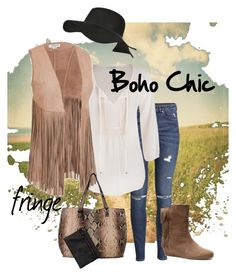 """""""Boho Chic"""" by wilsonsleather ❤ liked on Polyvore featuring H&M, maurices, Isolá and Black Rivet"""