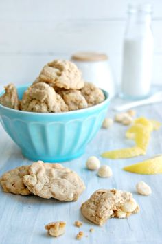 The Kitchen McCabe: {Just Slightly} Healthier White Chocolate Chip Macadamia Lemon Cookies