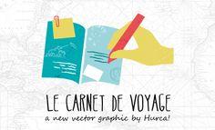 Carnet de Voyage - Vector Illustration