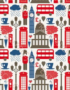 British party theme icons background by KerenPrecelEvents on Etsy, $10.00