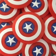 3D printed captain America shields.  -Forg3d props