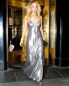 Jennifer Lawrence arrives at Rihanna's Private Met Gala After Party at Up & Down on May 4, 2015 in New York City