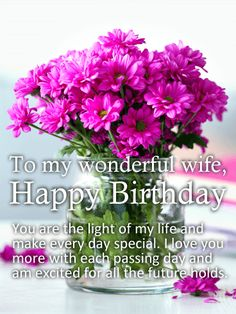 you are light of my life happy birthday card for wife birthday greeting cards by davia
