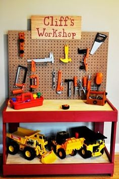 DIY Tool bench for a Christmas present! I totally want to make this for my grandson!
