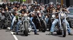 pictures of bandidos mc | Members of the Bandidos motorcycle club at their East Brunswick ...
