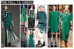 jewel tone tapestry fashion styles | The popularity of lime green on the S/S 15 catwalks has darkened to ...