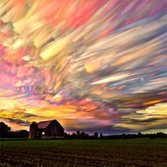 Smeared Skies Made from Hundreds of Stacked Photographs by Matt Molloy