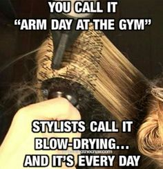 Blow drying muscles