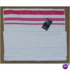Kingsley Home Pink Paintbox Hand Towel 100% Cotton - New With Tags