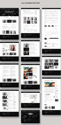 Like the black & white concept background concept. 1 image in the main canvas can easily capture users' eyes.
