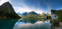 Sommer in Fjord Norwegen