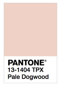 Pantone color Pale Dogwood is one of the trending colors for Spring 2017, according to what was most seen during the Spring Fashion Week shows/