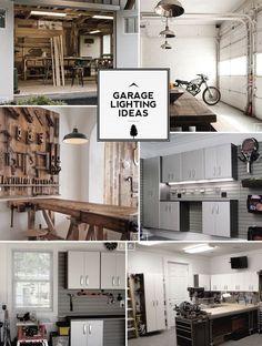 Home garage lighting ideas and designs