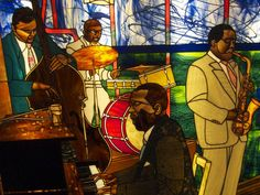 stained glass people | Jazz Band by Randy Maultasch | People - Stained Glass | Pinterest
