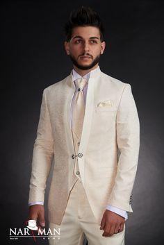 1 new message Mens Fashion Suits, Mens Suits, Bucharest, Mandarin Collar, Black Tie, Tuxedo, Bride Groom, Costumes, Suit Jacket