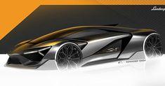 Lamborghini Trono is a Futuristic All-Electric Hypercar with a Terzo Millennio-Inspired Design Carros Lamborghini, Lamborghini Cars, Ferrari, Car Design Sketch, Car Sketch, New Sports Cars, Sport Cars, Lamborghini Concept, Futuristic Cars