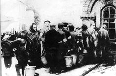 Warsaw, Poland, Jews waiting in line for water. Warsaw Ghetto, Warsaw Poland, Poland History, Never Again, Photo Archive, World War Two, Wwii, Repeat, Waiting