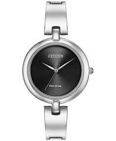 Citizen Women's Silhouette Eco-Drive Stainless Steel Bangle Bracelet Watch 34mm EM0220-88E
