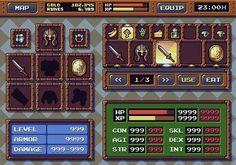 RPG UI - Unfortunately the artist is still unknown to me