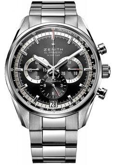 Zenith 03.2040.400/21.M2040 El Primero 36'000 VPH - черные - швейцарские мужские наручные часы