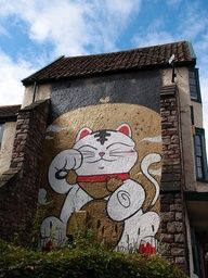 Lucky Cat found in the streets of Bristol, England