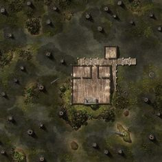 Swamp Cabin dock forest Dungeon maps Tabletop rpg maps Adventure map