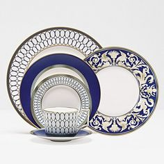"Wedgwood ""Renaissance Gold"" 5 Piece Place Setting 