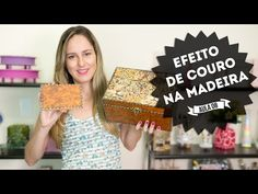 ▶ Como Fazer Imitação de Couro na Madeira - Curso de Artesanato Passo a Passo…