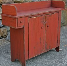 Primitive candle cupboard - What a great vanity this would make! Primitive Cabinets, Old Cabinets, Primitive Furniture, Primitive Kitchen, Country Furniture, Funky Furniture, Design Furniture, Cabinet Furniture, Furniture Making