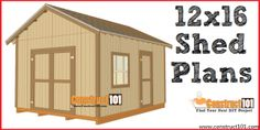 Free shed plans include gable, gambrel, lean to, small and big sheds. Free how to build a shed guide. Shed Plans 12x16, Lean To Shed Plans, Wood Shed Plans, Shed Building Plans, Diy Shed Plans, Coop Plans, Free Shed Plans 10x12, Simple Workbench Plans, Planter Box Plans