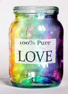 Post thanks to Chris Dowling via  https://www.facebook.com/ExposingTheTruth bottl, pure, inspiring quotes, heart, color, medicin, rainbow, jars, 100