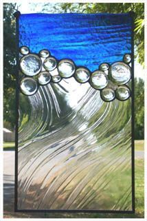 "Great use of texture in the glass to form the ""wave"" look. Very nice."
