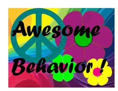 Groovy Behavior Clip Chart - for the 70s Themed classroom
