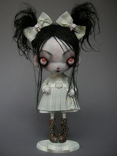#Goth girl doll from Julien Martinez by Celine.Excoffon, via Flickr