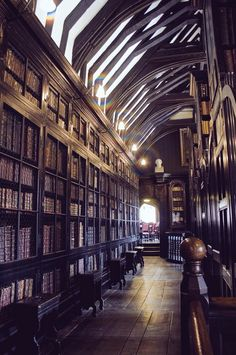 The oldest free public reference library in the UK founded 1653: Chetham's Library, Manchester.