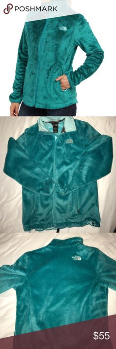 Blue fuzzy North Face A fuzzy warm north face only worn a handful of times! The North Face Jackets & Coats