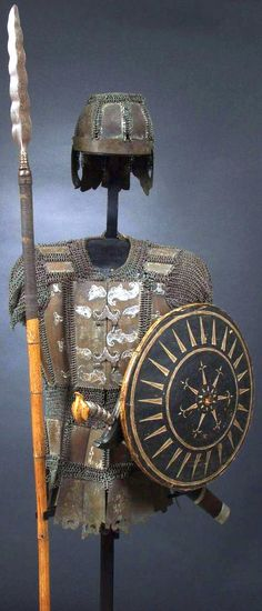 Armor from the Philipines (Moro) and Indonesia. Arm Armor, Body Armor, Medieval Armor, Medieval Fantasy, Filipino, Warrior Helmet, Philippines Culture, American War, Middle Ages