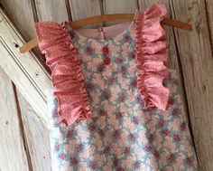 Garden+Party++Girl's+Dress+Pattern.+Girl's+por+RubyJeansCloset,+$7,95