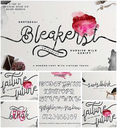 Bleakerst monoline script