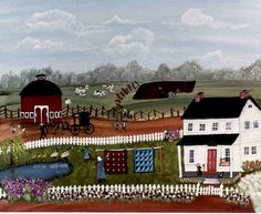 """""""Amish Life"""" is a wonderful picture of a day in the life on an Amish Farm. It would be a perfect addition to your folkart collection! image is giclee print, signed by the artist Gouache Painting, Aboriginal Art, Tribal Art, Amish, Traditional Art, Art Blog, That Way, Folk Art, Illustration Art"""