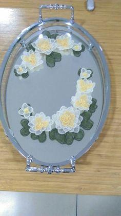 Tray, Decor, Silk, Tejidos, Decoration, Decorating, Deco, Embellishments, Board