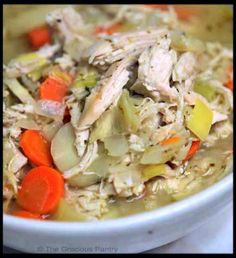 Clean Eating Chicken And Rice Soup