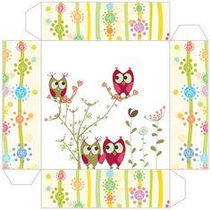 Ideas y material gratis para fiestas y celebraciones Oh My Fiesta!: Cajitas imprimibles de búhos.