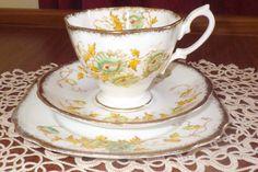 Lovely,Rare,Vintage, Royal Albert@  1212   Pattern Crown China Tea Trio Set