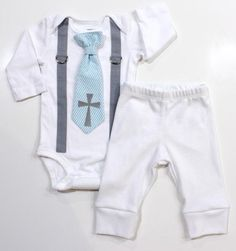 Pant Set: Baptism Outfit w/ White Pants