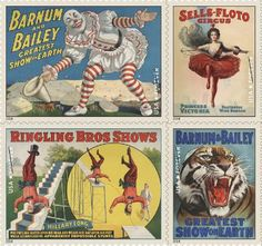 U.S. Postal Service launches Vintage Circus Poster Stamps