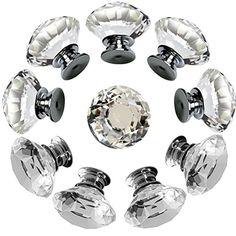 NORTHERN BROTHERS Drawer Knob Pull Handle Crystal Glass D...