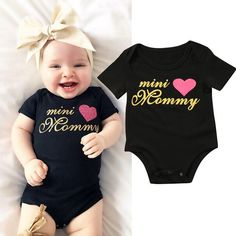 US Stock Newborn Infant Baby Boy Girl Bodysuit Romper Jumpsuit Clothes Outfits