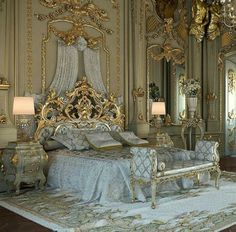 Luxury bedroom design mansions beds 30 New Ideas Royal Bedroom, Bedroom Sets, Baroque Bedroom, Baroque Decor, King Bedroom, Dream Rooms, Dream Bedroom, Castle Bedroom, Fairytale Bedroom